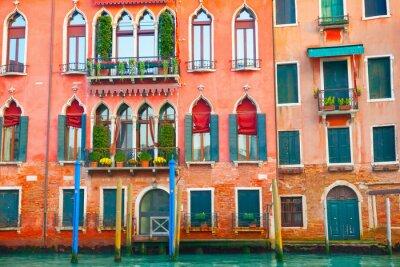 Наклейка Венеция здания на Большом канале