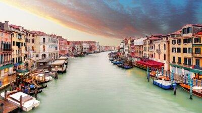 Наклейка Венеция - Гранд-канал от моста Риальто