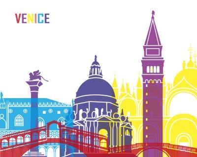 Наклейка Венеция горизонты поп