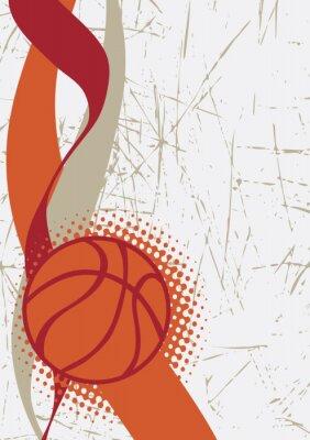 Наклейка Вертикальный баскетбол poster.Abstract фон