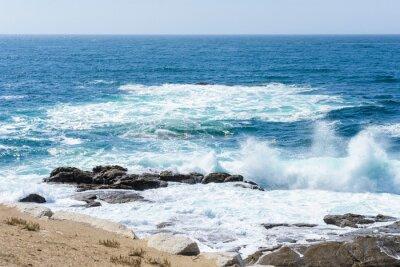 Наклейка вид прибоя на берегу океана