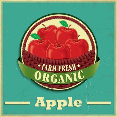 Наклейка Урожай яблок дизайн плаката
