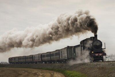 Наклейка Урожай черный паровоз