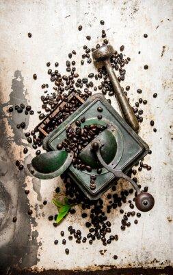 Наклейка Урожай кофемолке с пестиком