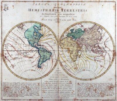 Наклейка старинные карты