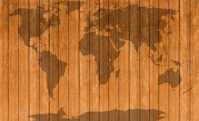 Наклейка старинные карты деревянных фоне текстуры