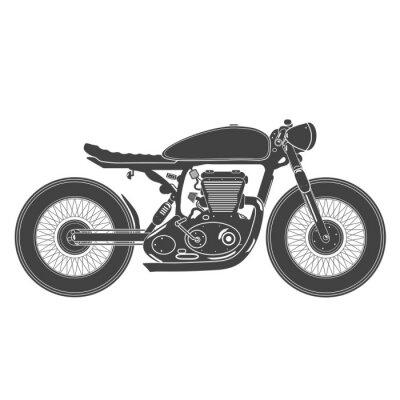 Наклейка старинных мотоциклов. кафе тема гонщик