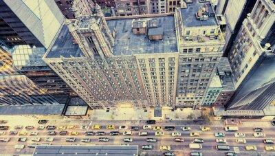 Наклейка Старинные фото улиц Нью-Йорка с крыши