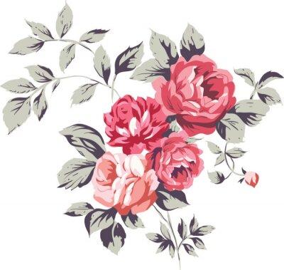 Наклейка Урожай Розовые розы