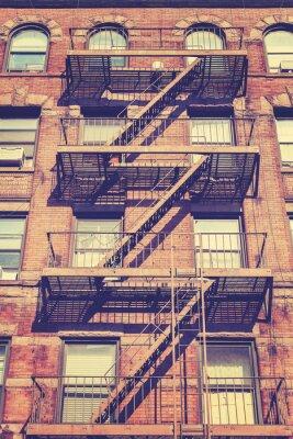 Наклейка Винтаж фото стиль Нью-Йорк, США здания.