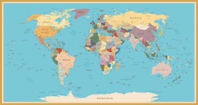 Наклейка VINTAGE WORLD MAP