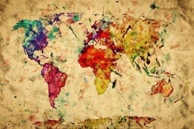 Наклейка Урожай карта мира.