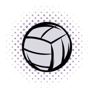 Наклейка Волейбольная комиксы иллюстрации