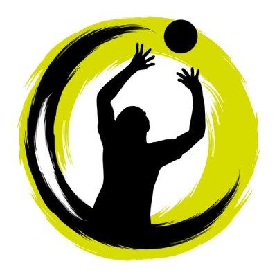 Наклейка Волейбол - 99