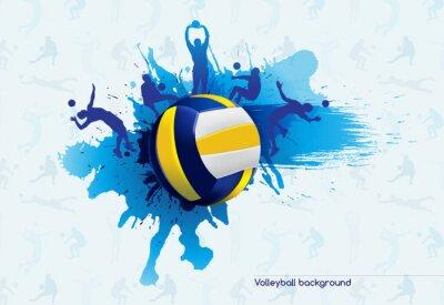 Наклейка Волейбол абстрактный