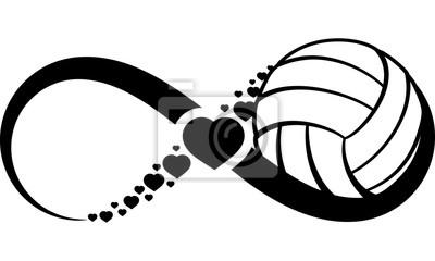 Наклейка volleyball-heart-infinity4