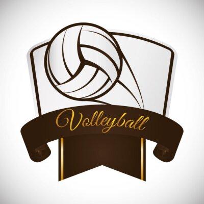 Наклейка дизайн иконок Волейбол