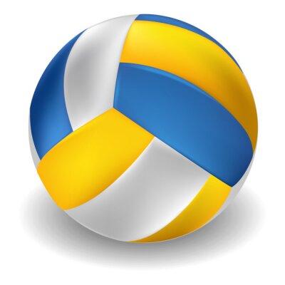 Наклейка Волейбол на белом фоне. Все элементы в отдельных слоях и сгруппированы.