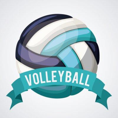 Наклейка дизайн волейбольная лига