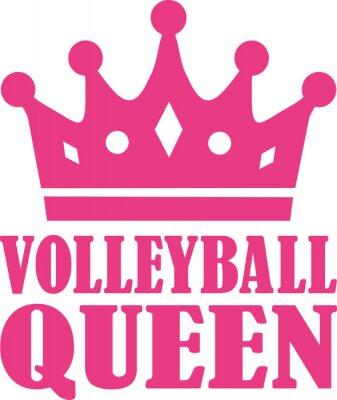 Наклейка Волейбол королева