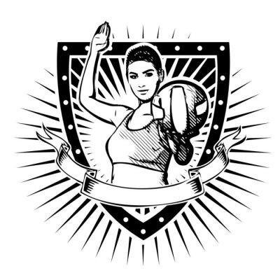 Наклейка волейбол щит