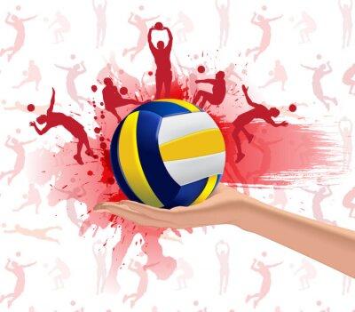 Наклейка Волейбол спорт дизайн фона