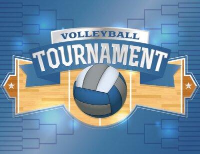 Наклейка Турнир по волейболу Дизайн плакатов Иллюстрация