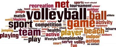 Наклейка Волейбол Концепция слово облако. Векторная иллюстрация