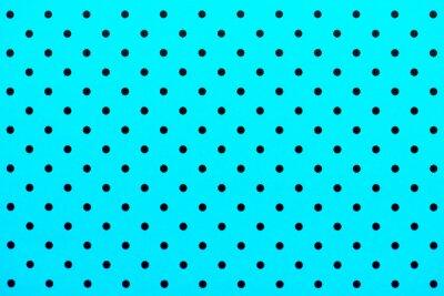 Наклейка обои шаблон черные точки в бирюзовый цвет фона