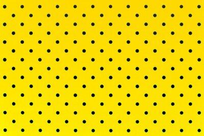 Наклейка обои шаблон черные точки в желтый цвет фона
