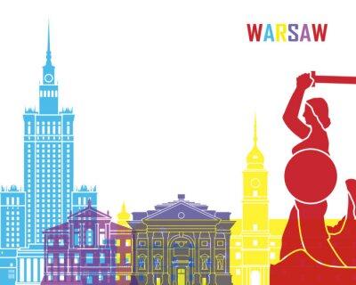 Наклейка Варшава горизонта поп