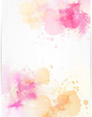 Наклейка Акварель абстрактного фона с краской брызг.