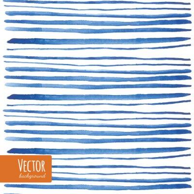 Наклейка Акварельные синие полосы в векторе.