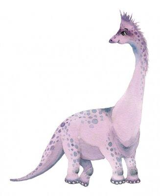 Наклейка Акварельные динозавры бронтозавра