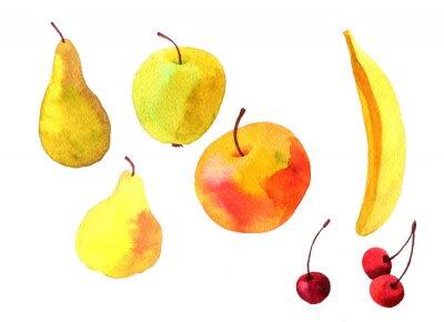 Наклейка Плоды акварель рисунок