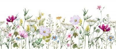 Наклейка Watercolor floral pattern