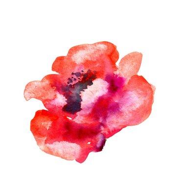 Наклейка Акварельный цветок мака