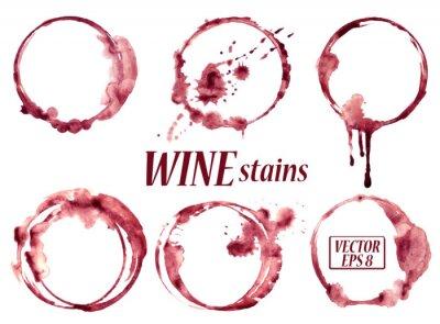 Наклейка Акварель вино окрашивает иконки