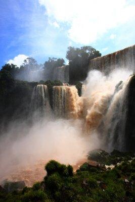 Наклейка Водопад / Водопады Игуасу в Аргентине
