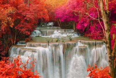 Наклейка Водопад в глубоком дождевого леса джунглей (Хуай Mae Kamin Водопад я