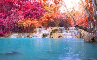 Наклейка Водопад в тропическом лесу (Tat Куанг Si водопад в Луанг Praba