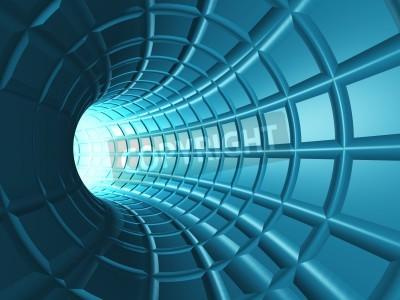Наклейка Веб тоннеля - Радиальная туннель с перспективной сети, как сетки.