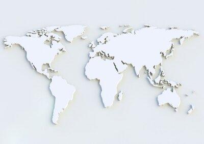 Наклейка 3D карта мира - карта мира 3D