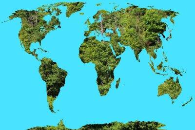 Наклейка карта мира