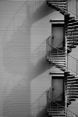 Наклейка Спиральная лестница / Винтовая лестница пожарная лестница и промышленного строительства
