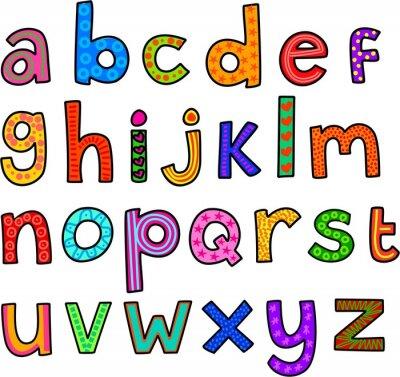 Наклейка Причудливая строчные буквы