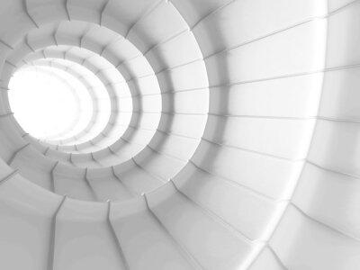 Наклейка Белый абстрактный дизайн фона туннеля