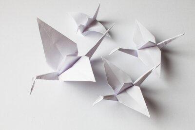 Наклейка White crane handmade