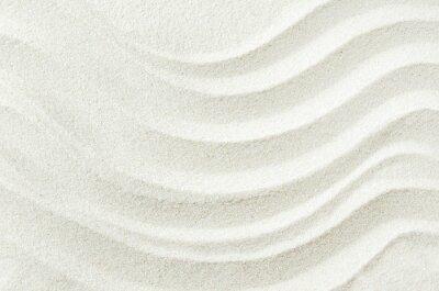 Наклейка Белый фон текстура песка с волной картины