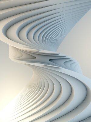 Наклейка White stripe pattern futuristic background. 3d render illustration